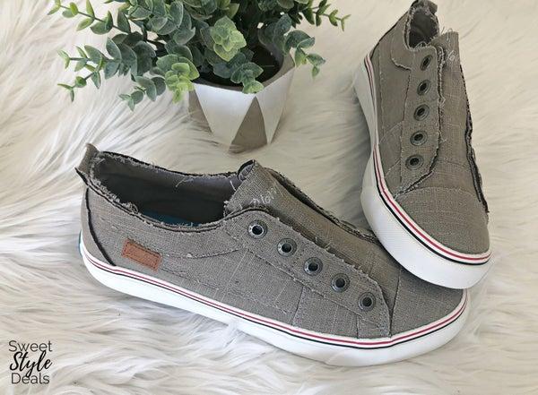 Steel Gray Blowfish Sneakers