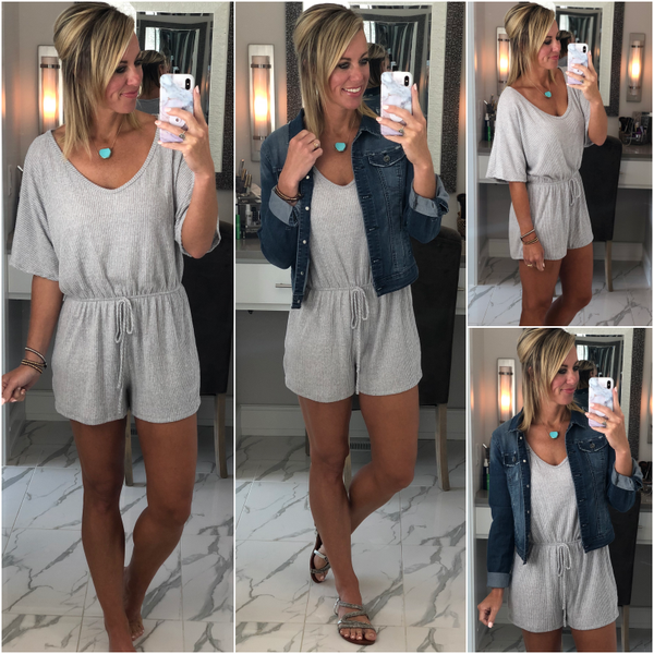 Cashmere Slouch Romper