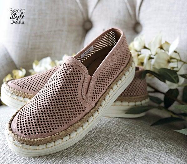 Mauve Slide On Shoes
