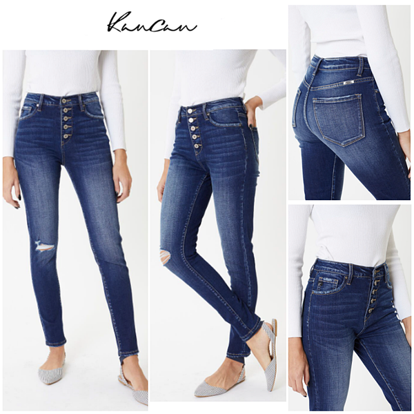 KANCAN- High Rise Curvy Jeans