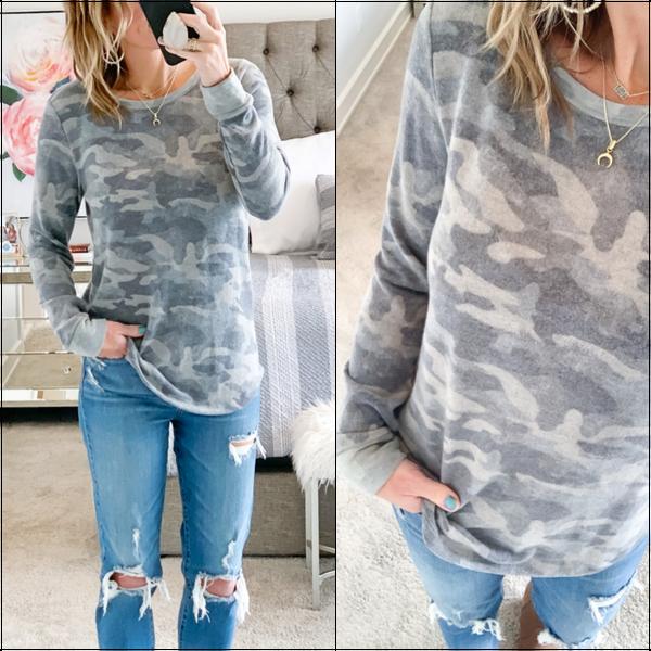 Super Soft Camo Pullover