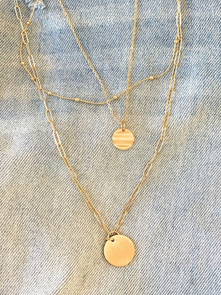 2-Layer Coin Necklace (Gold)