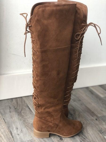 Chestnut OTK Boots