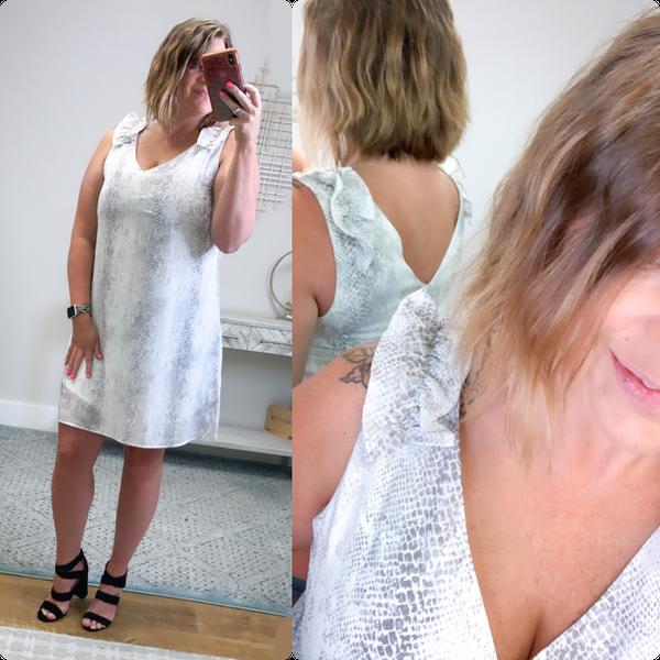 Summer Ruffle Snake dress