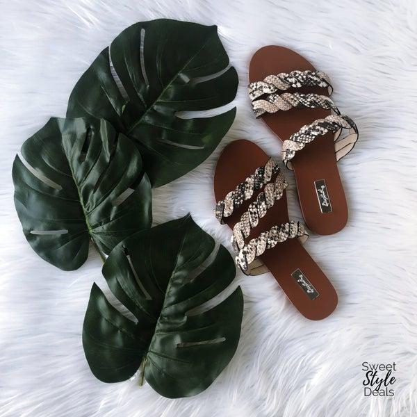 Snake Braid Sandals