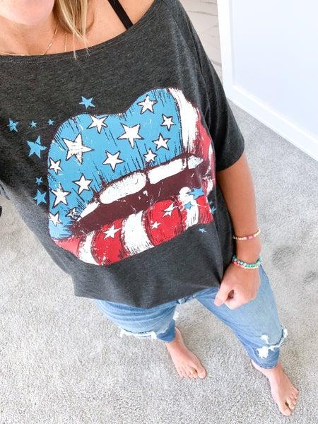 America Kiss Tee *Final Sale*