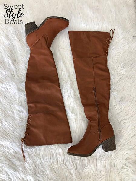 Louie Chestnut OTK Boots