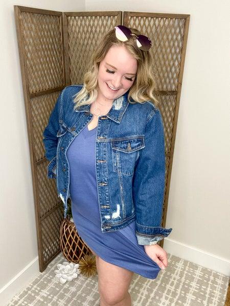blue city dress