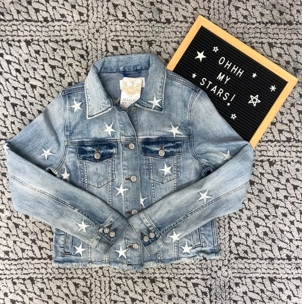 star denim raw hem jacket