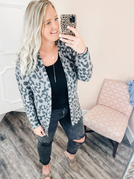 leopard super soft cardi