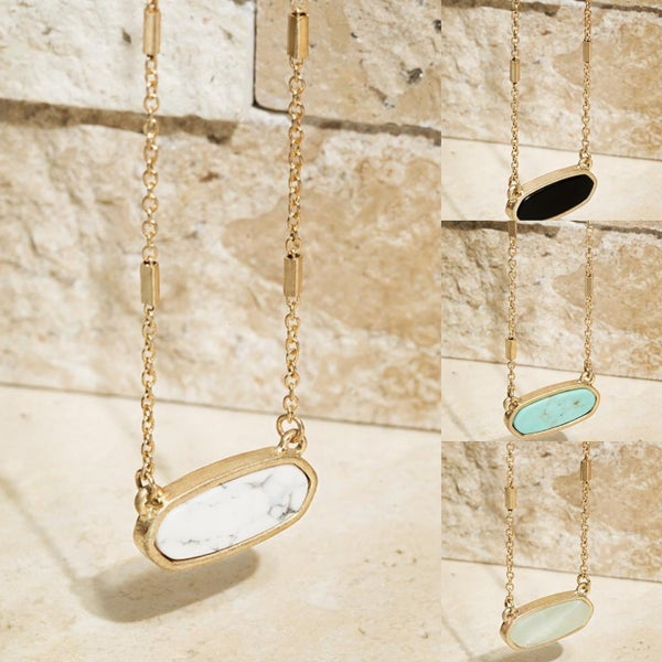 Kendra Stone Necklace- 4 Colors
