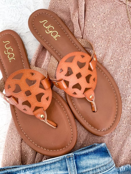 Tory Look-a-Like Sandals (Brown)