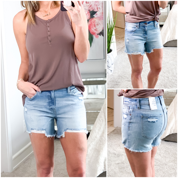 Now or Never Mid Rise Shorts