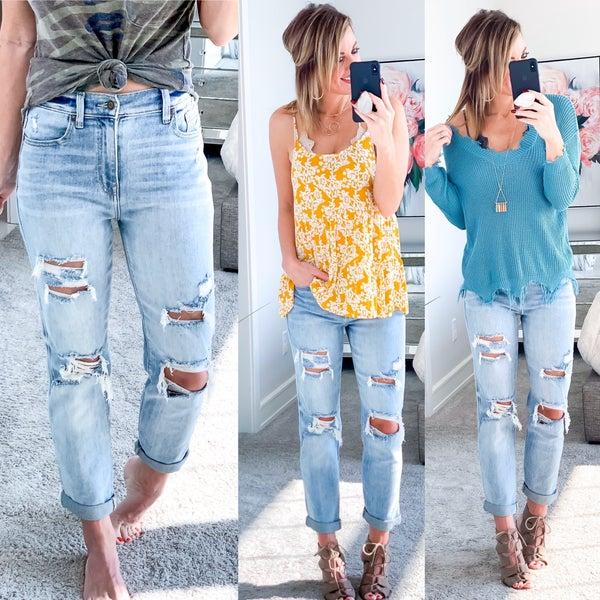 Yo' Adrienne... high rise jeans