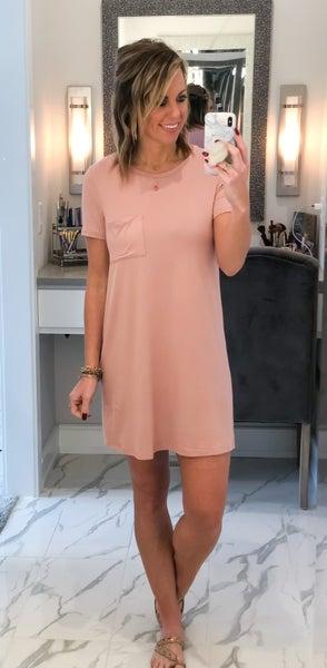 Super Soft Pocket T-Shirt Dress (2 Colors)