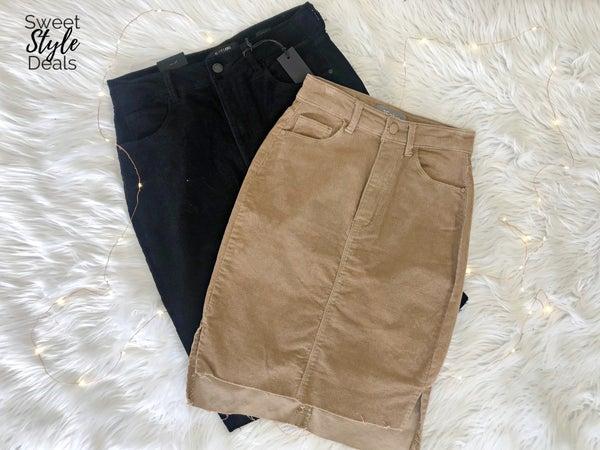 Corduroy Midi Skirt *Final Sale*
