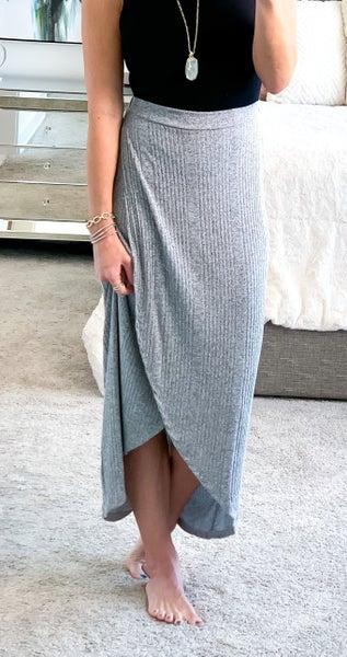 surplus knit long skirt