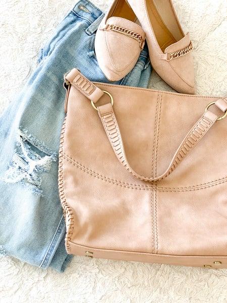Blushing Braided Bag