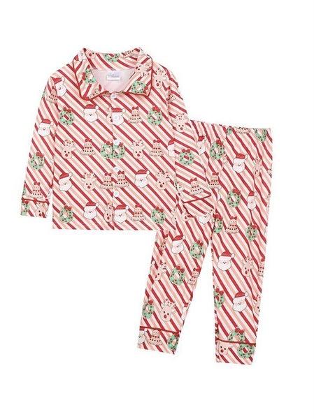 Santa Stripe Pajama Set