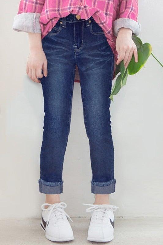 Denim Skinny Jeans-Dark