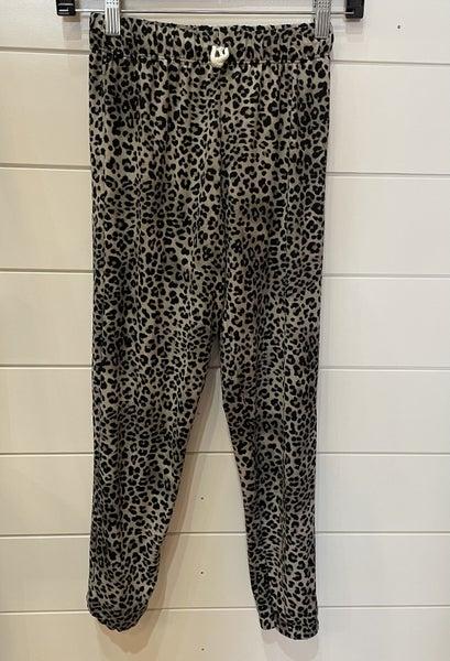 Grey Leopard Jogger Pants