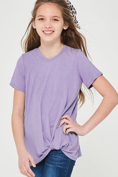 Lavender Side Twist Top