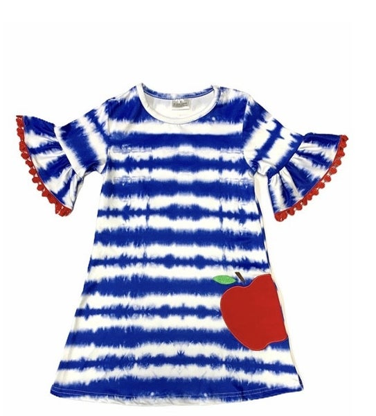 Blue Tie Dye Apple Dress
