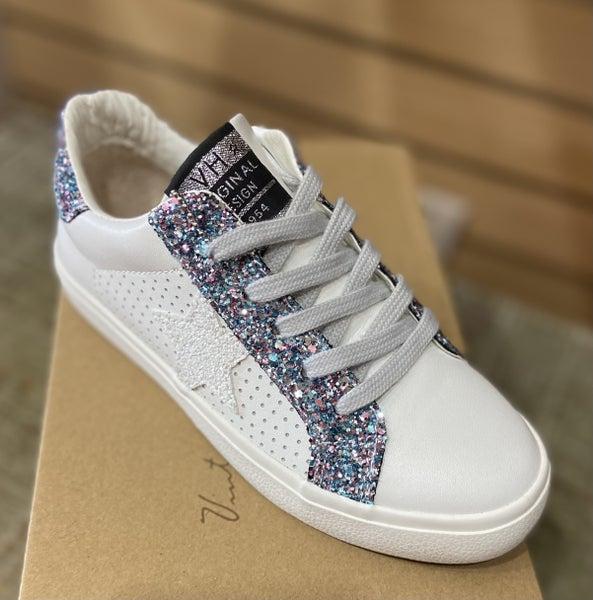 Vintage Havana White Star Glitter Sneakers