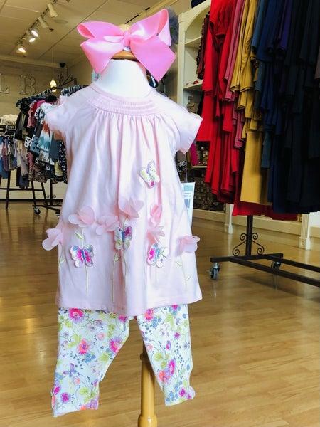Pink Butterfly Legging Set