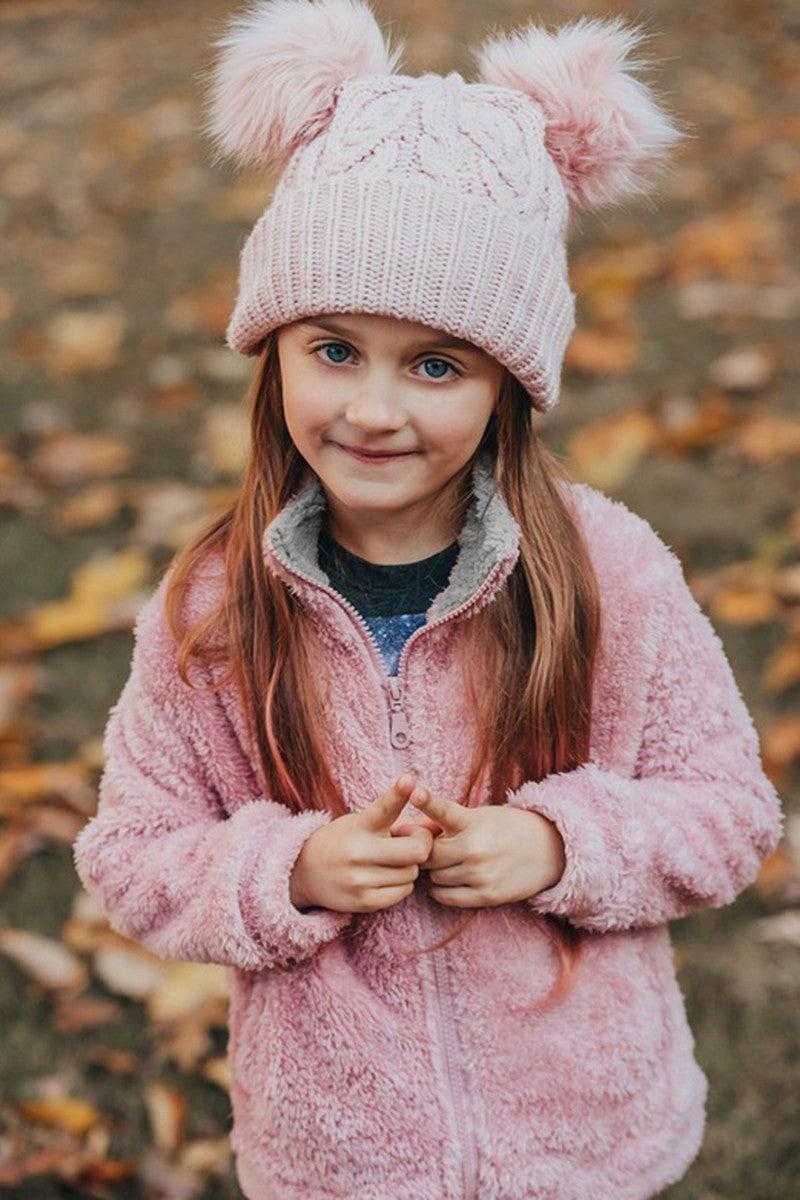 Pink/Grey Fleece Jacket