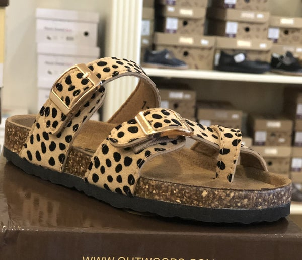 Cheetah Birkenstock Inspired Sandals