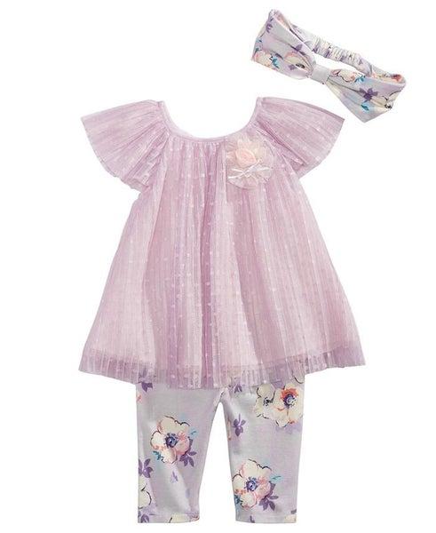 Lavender Floral Pants Set