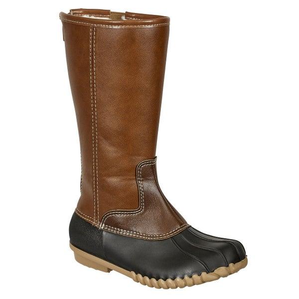 Tall Brown/Black Duck Boot