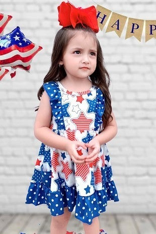 Red, White & Blue Hearts Patriotic Dress