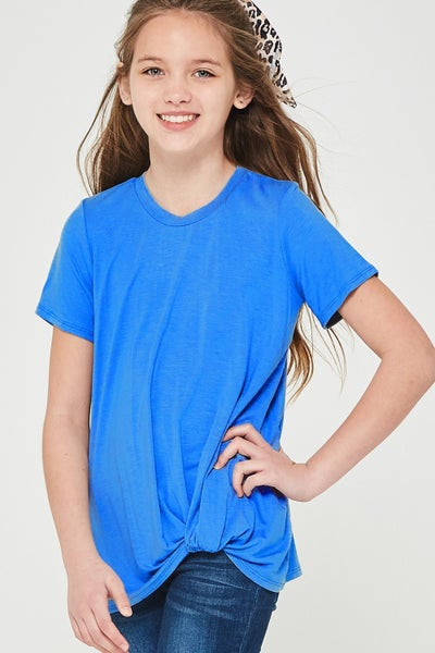 Blue Side Twist Top