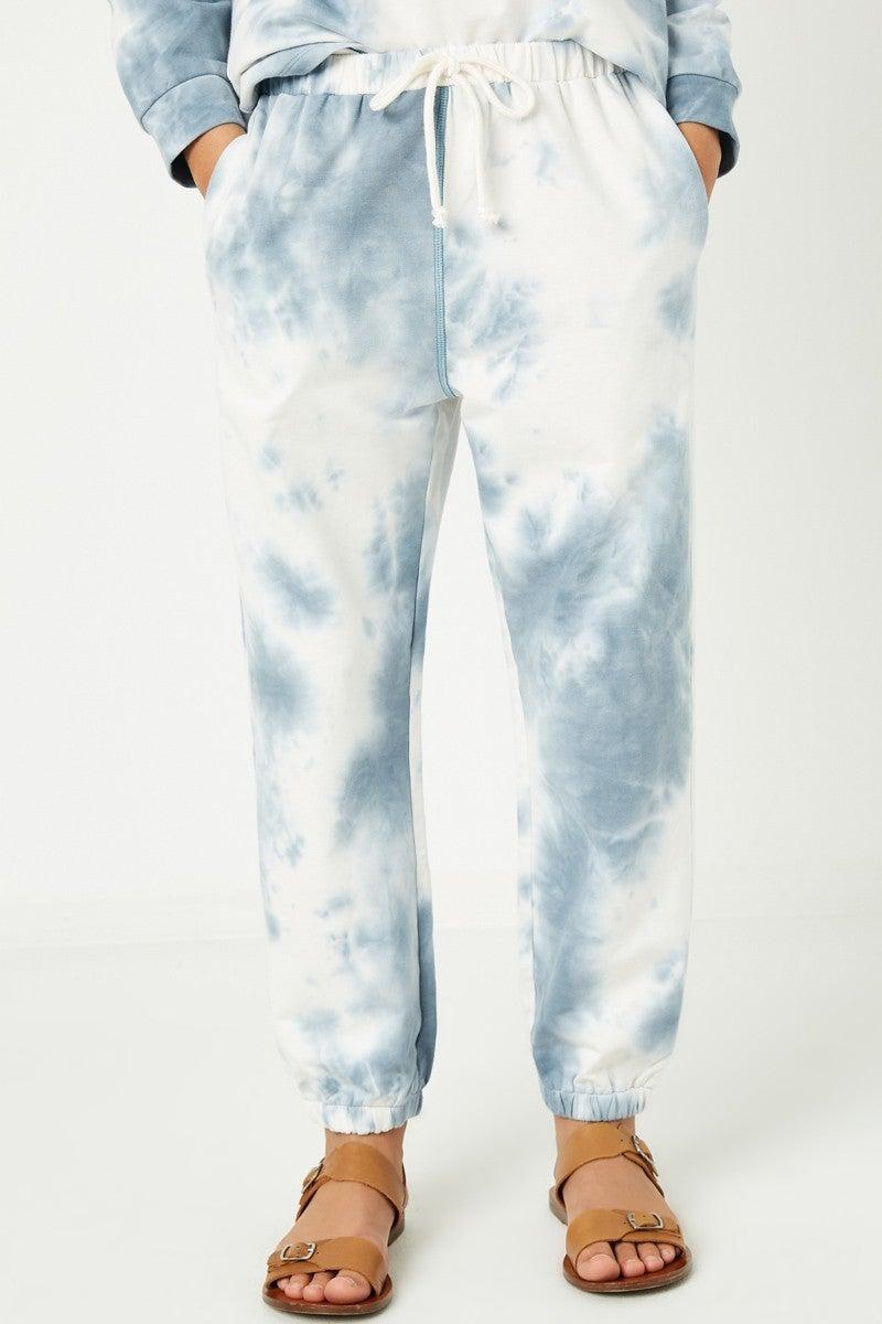 Tween Blue Tie Dye Knit Joggers