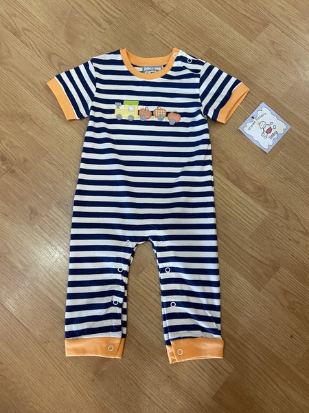 Three Sister's Boys Pumpkin Romper
