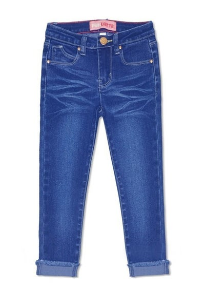 Denim Skinny Jeans with Cuff- Medium