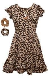 Animal Print Flutter Dress