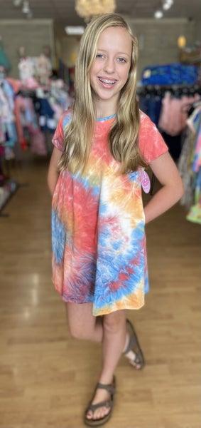 Tween Multi Tie Dye Swing Dress