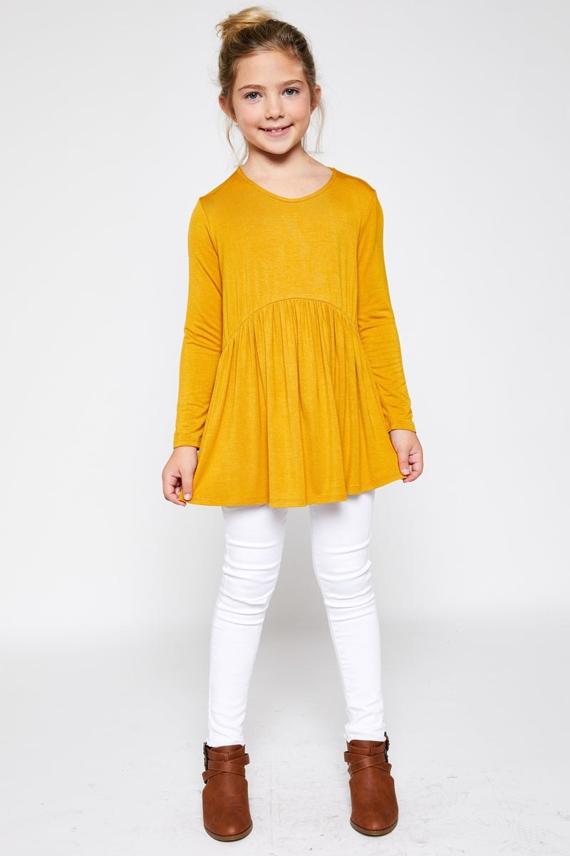 Mustard Baby Doll Top