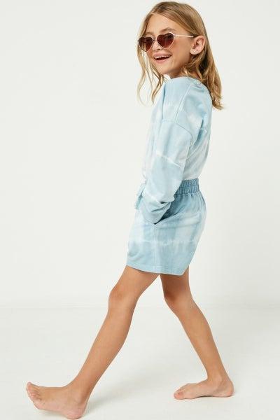 Blue Tie Dye Shorts