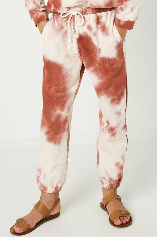 Tween Rust Tie Dye Joggers