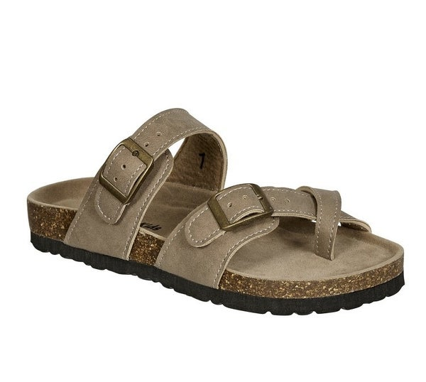 Girls Taupe Birkenstock Inspired Sandals