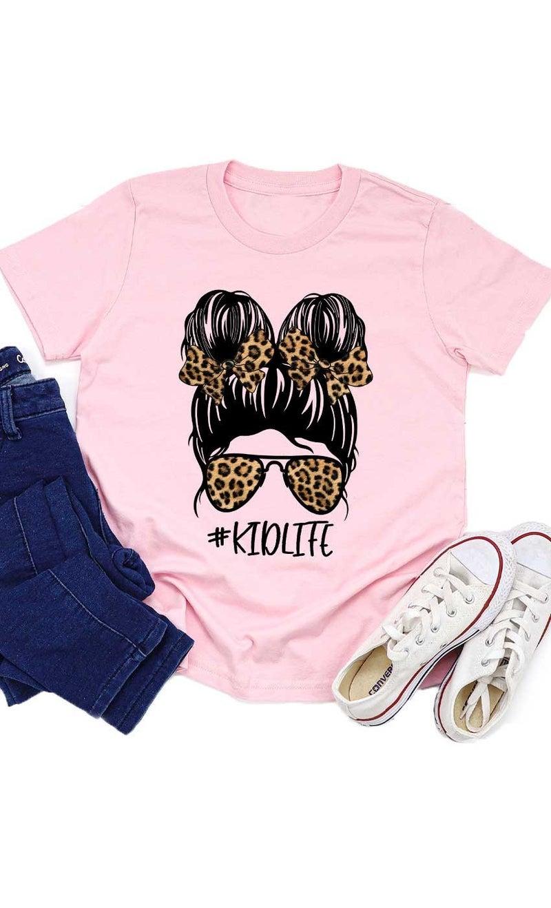 Pink Leopard Messy Bun #KIDLIFE