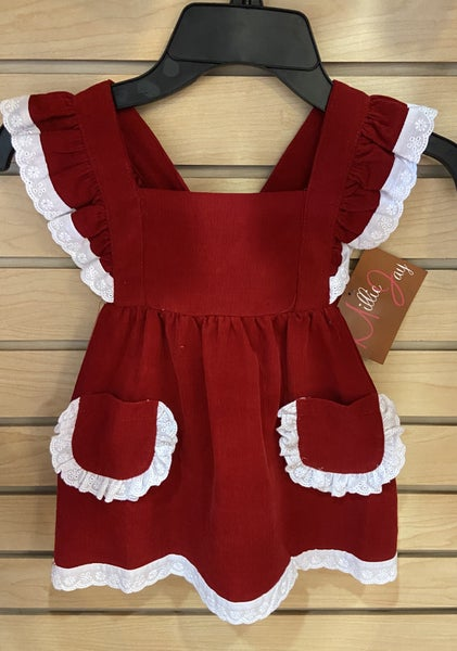 Millie Jay Cranberry Corduroy Dress