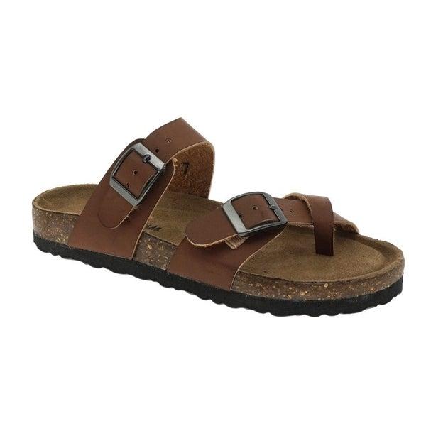 Chestnut Brown Birkenstock Inspired Sandals