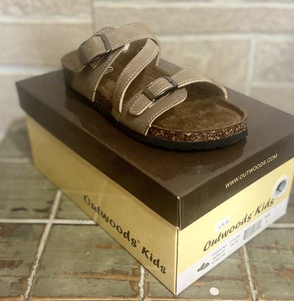 Girls Taupe Birkenstock Inspired Sandals