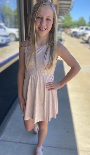Peach Sleeveless Dress