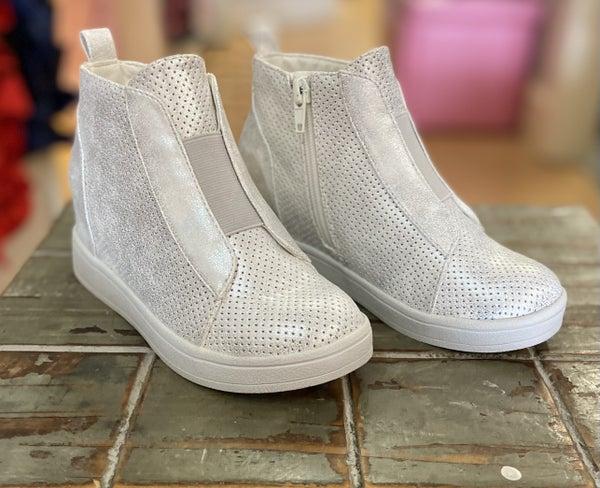Gracey Silver Wedge Sneaker